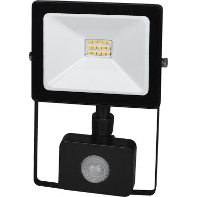 LED Reflektor SMD TOMI 10W s PIR černý