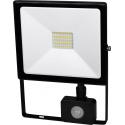 LED Reflektor SMD DAISY 30W s PIR černý
