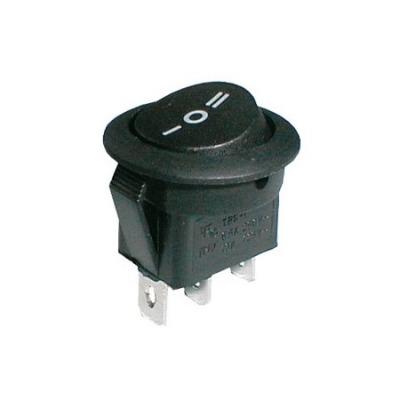 Přepínač 3 polohový 250V/6,5A černý