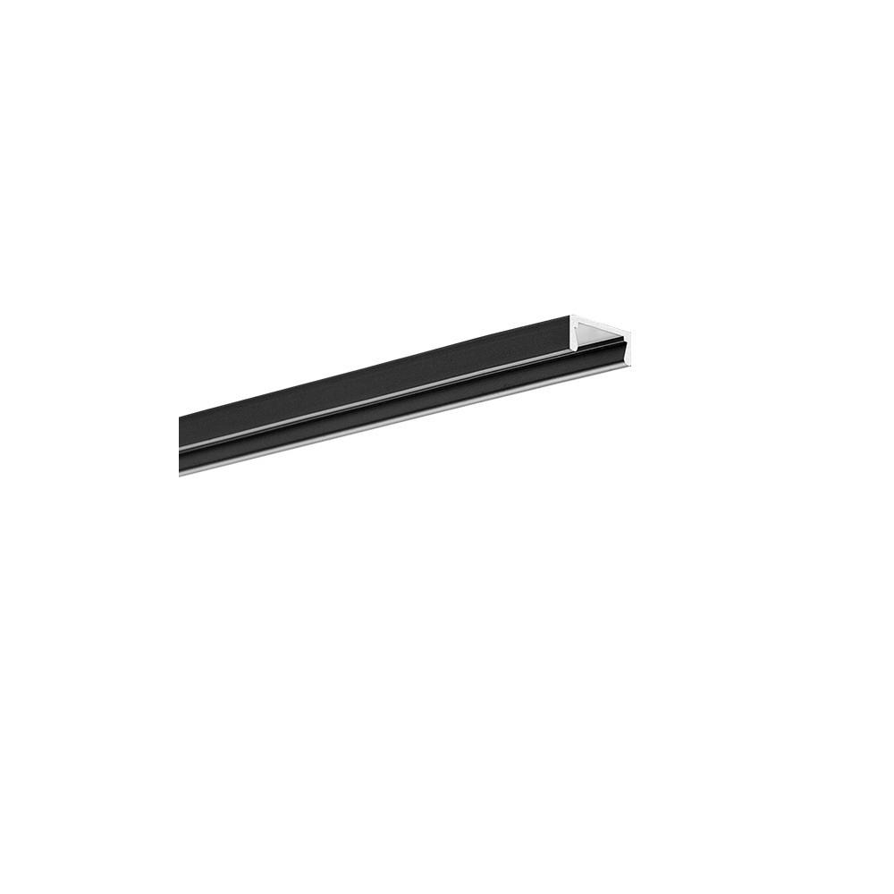 Nástěnný hliníkový LED profil 1 mikro černý