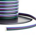 Plochý RGBW kabel 5x0,35mm