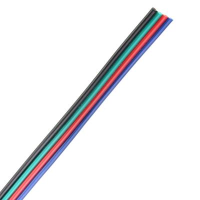 Plochý RGB kabel 4x0,52mm