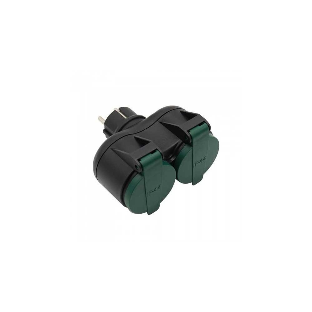 Adaptér 2xSchuko 230V 2x16A IP44