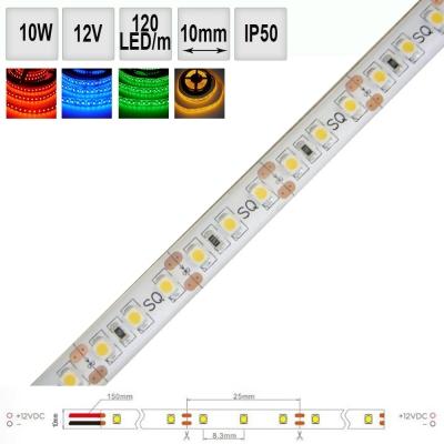 Barevný LED pásek 10W/m 12V IP50