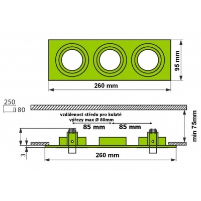 Podhledový rámeček D10-3