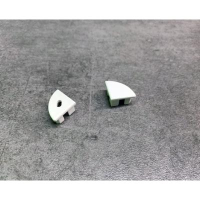 Koncovka profilu rohového SLIM oblá bílá