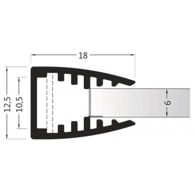 ALU profil č. 9 LUX 6mm