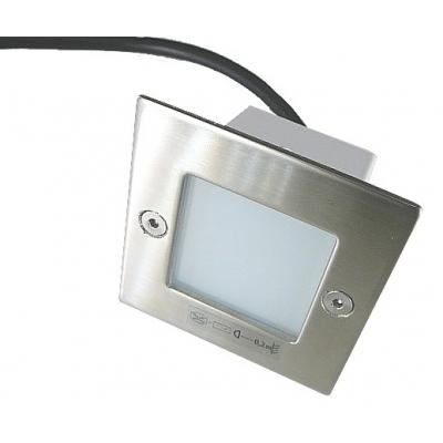 LED vestavné svítidlo čtverec 1,5W 240V denní bílá