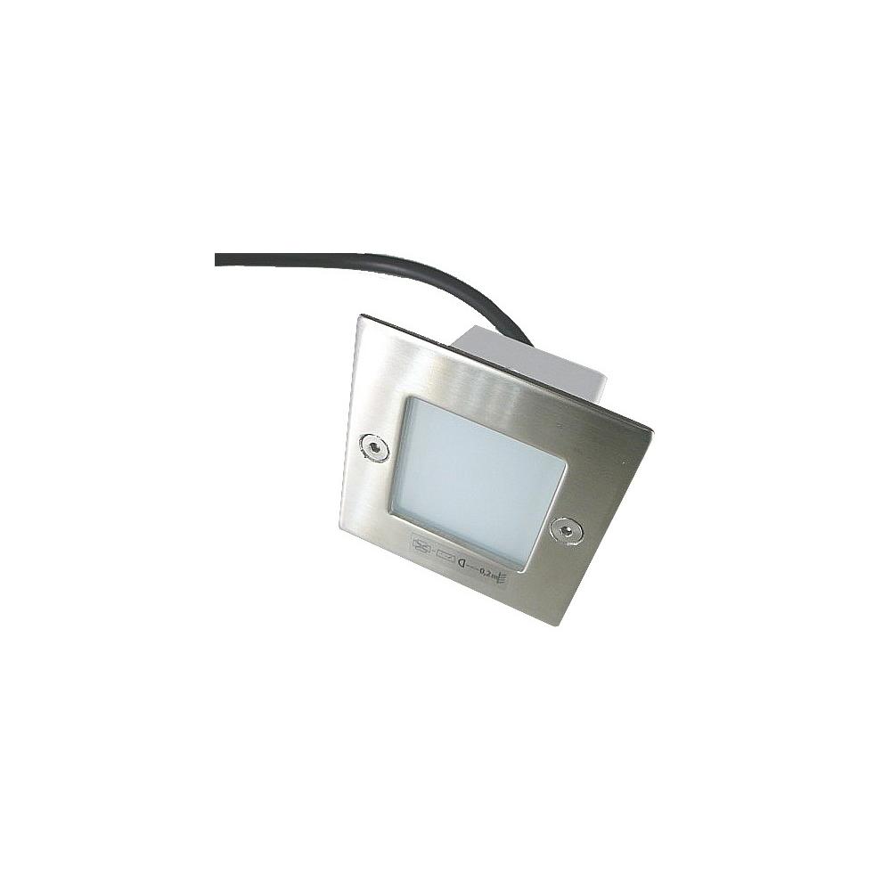 LED vestavné svítidlo čtverec 0.6W 240V denní bílá