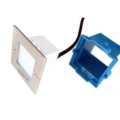 LED vestavné svítidlo TAXI  0.6W 240V čtverec