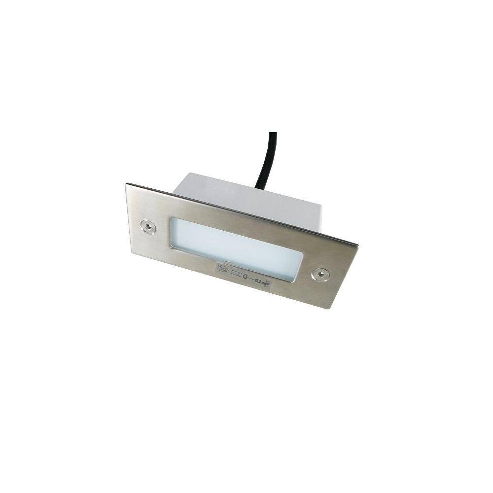 LED vestavné svítidlo obdélník 1,5W 240V denní bílá