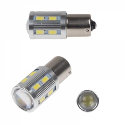 LED auto žárovka BA15S 10-30V 6W bílá
