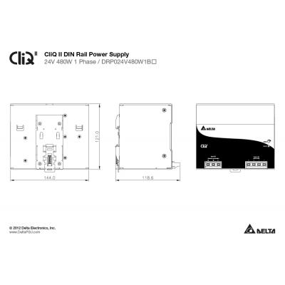 LED zdroj 24V 480W DELTA-480 1BN