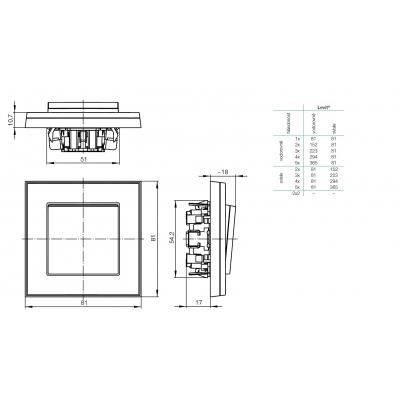 Rozměrový výkres, 3901H-A05040