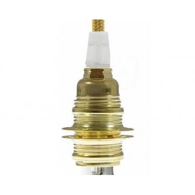 Kovová objímka E14 metalická zlatá