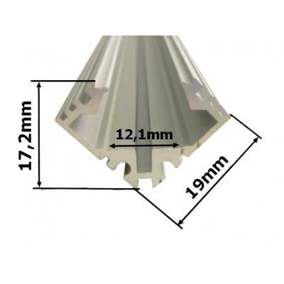 Rohový hliníkový LED profil 2