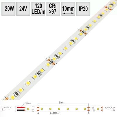 LED pásek 20W/m 24V CRI98 IP20