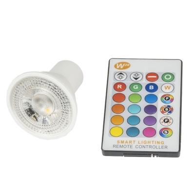 LED žárovka RGBW GU10 5W + ovládač