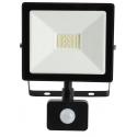 LED Reflektor SMD TOMI 20W s PIR černý