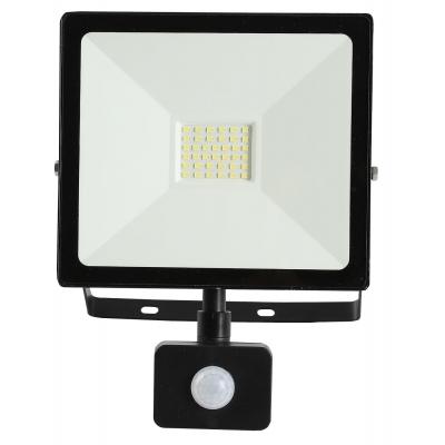 LED Reflektor SMD TOMI 30W s PIR černý