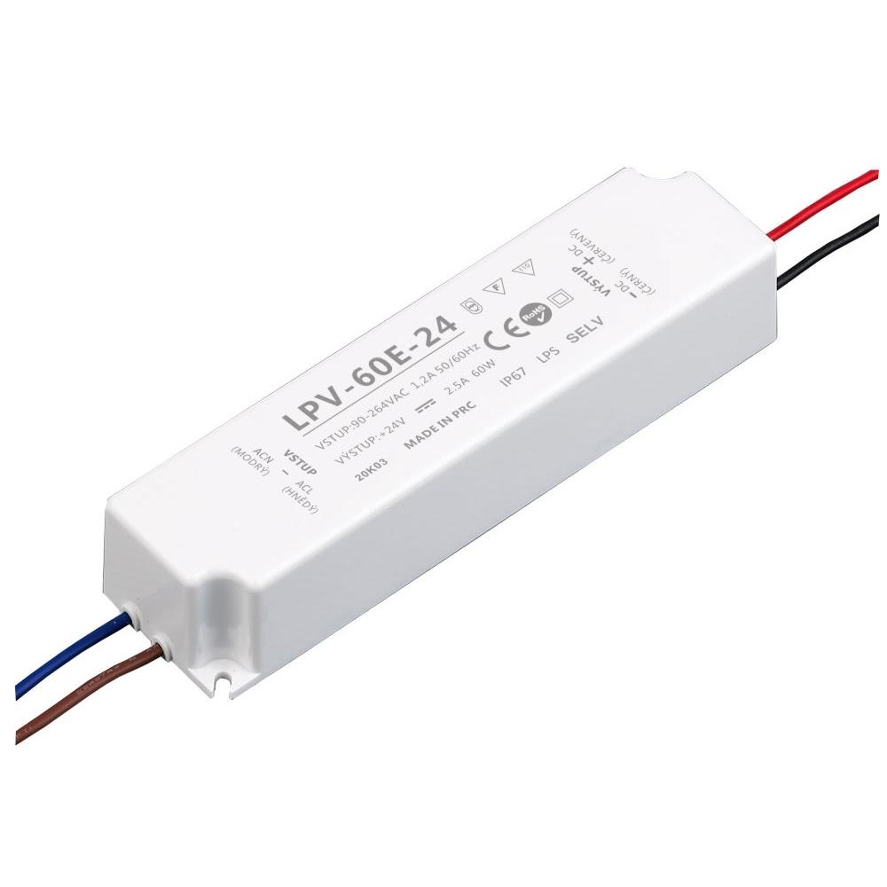Voděodolný napájecí zdroj 60W 24V LPV