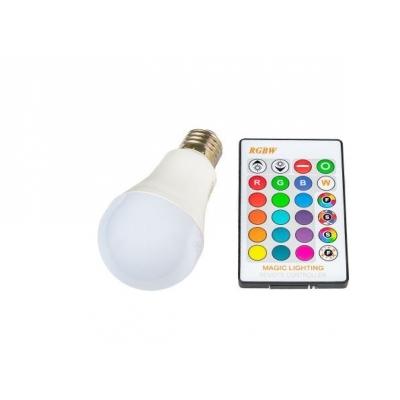 LED RGBW žárovka E27 5W 360°