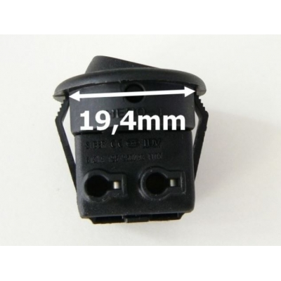 Vypínač kolébkový malý 250V 3A černý