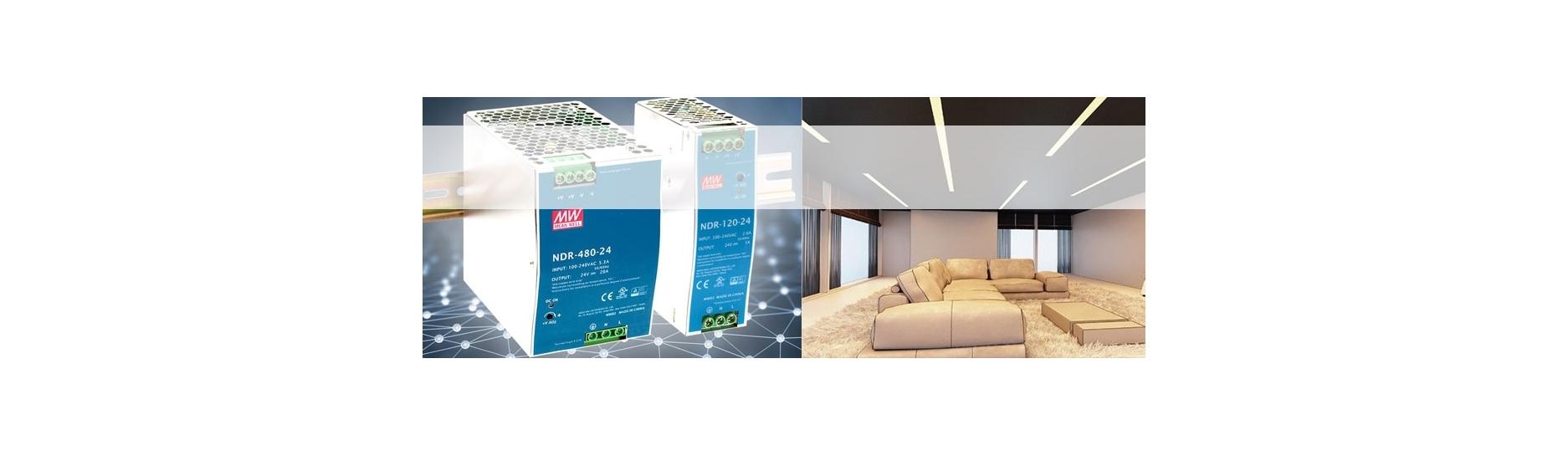 Zdroje LED na DIN lištu 24V