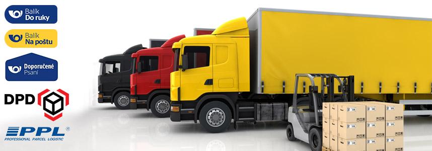 Doprava a možnosti doručení - doprava zdarma
