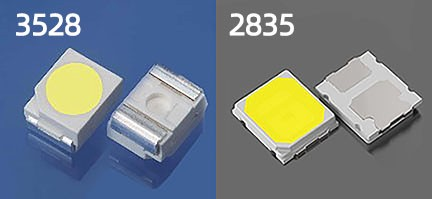 LED SMD 2835 vs 3528